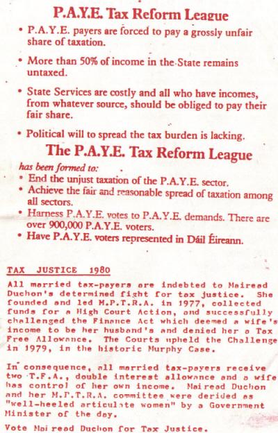 Mairead Duchon Tax Reform League