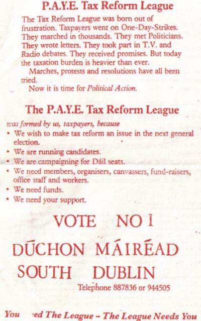 Tax Reform League