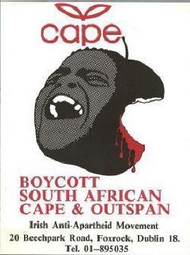 Outspan anti-apartheid poster