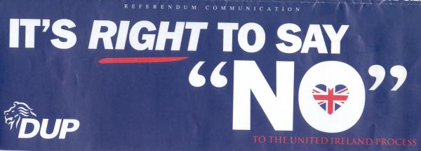 Good Friday Agreement Irish Election Literature