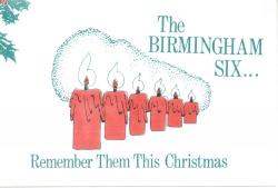 Birmingham Six Christmas card