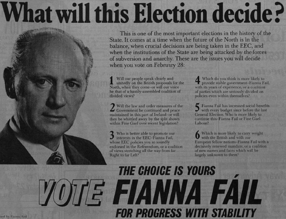 Fianna Fail 10973 General Election