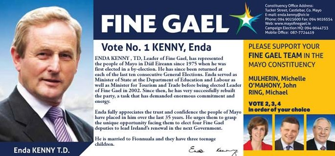 election flyers irish election literature page 54
