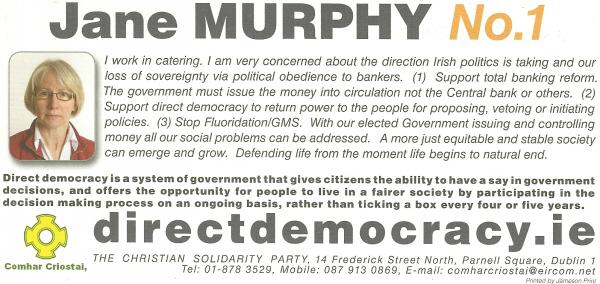 jane murphy polled 277 votes