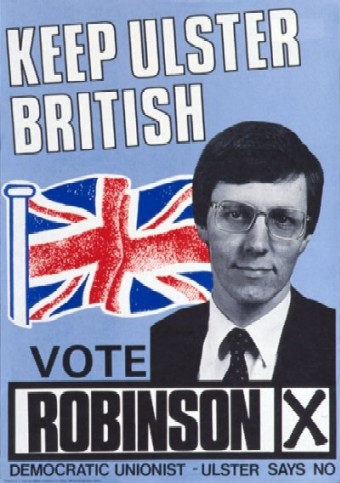 Peter Robinson re-election poster