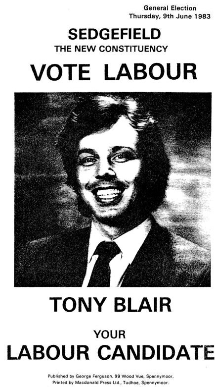 1983 Election Leaflet for Tony Blair | Irish Election Literature