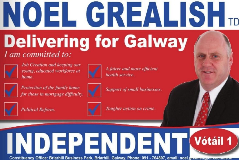 Galway west irish election literature for Campaign literature templates