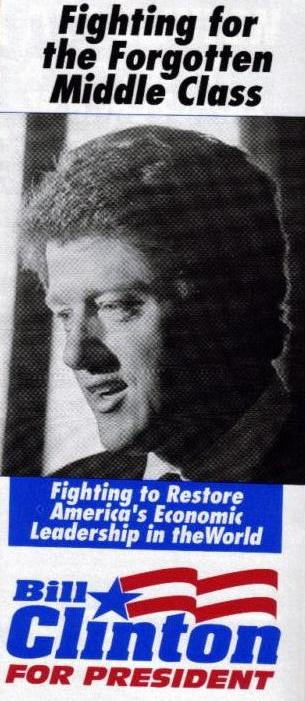 fighting for the fortgotten middle class bill clinton 1992 us