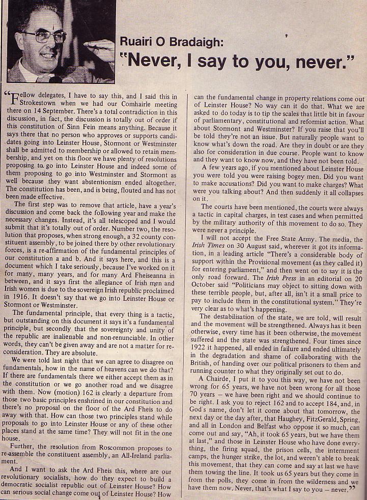 O Bradaigh 1986