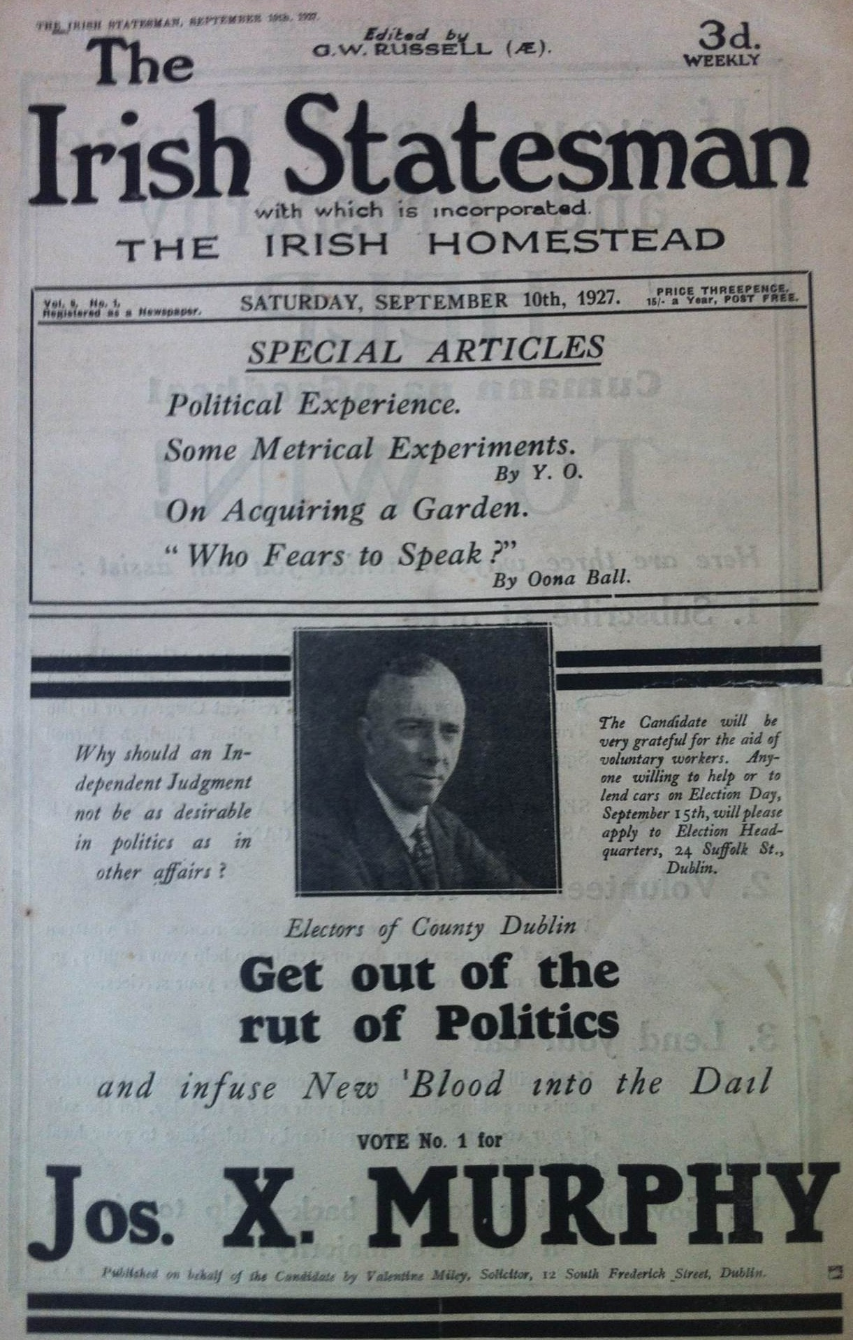 September 1927 Irish general election