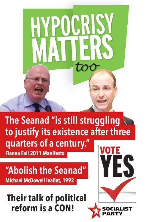 hypocrisy matters seanad poster
