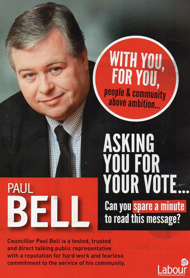 Leaflet from Paul Bell -Labour Party -Drogheda -2014 Local