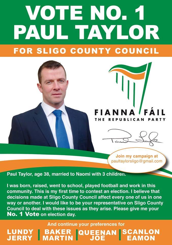 campaign literature templates - ballymote tubbercurry irish election literature
