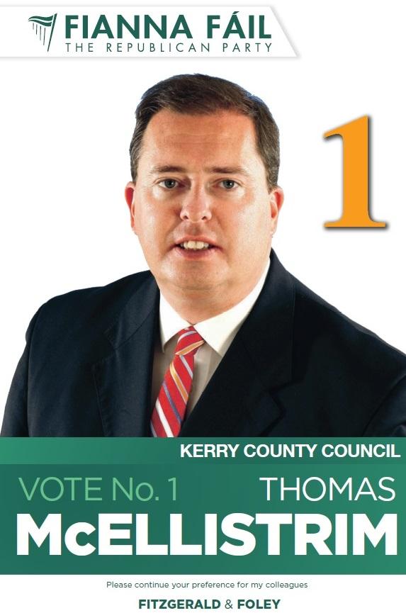 Poster for Thomas McEllistrim -Fianna Fail -Tralee -2014 Local ...