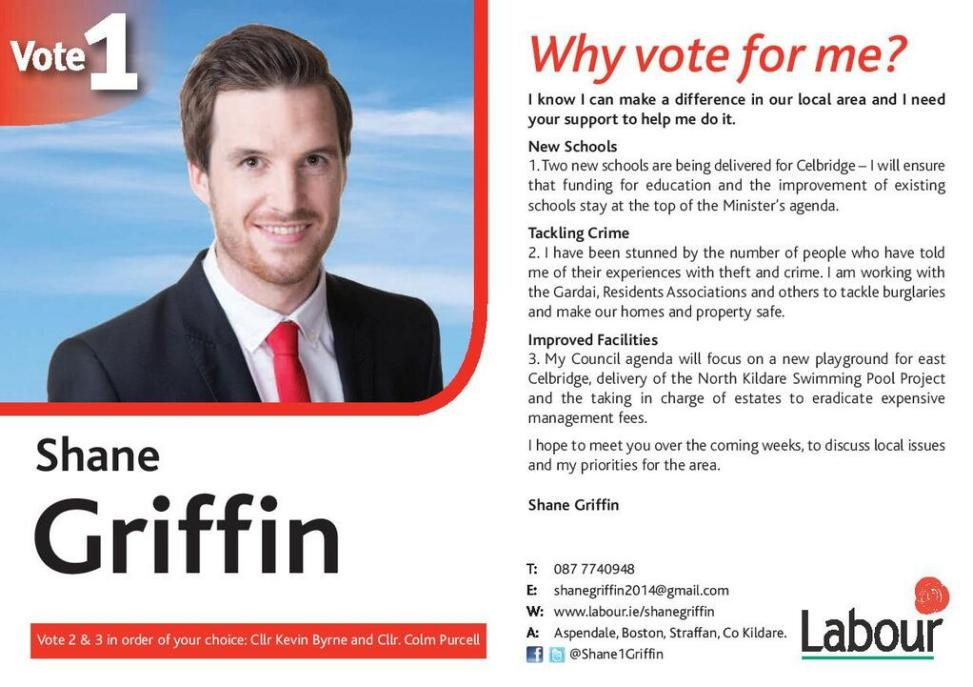 Celbridge irish election literature for Campaign literature templates