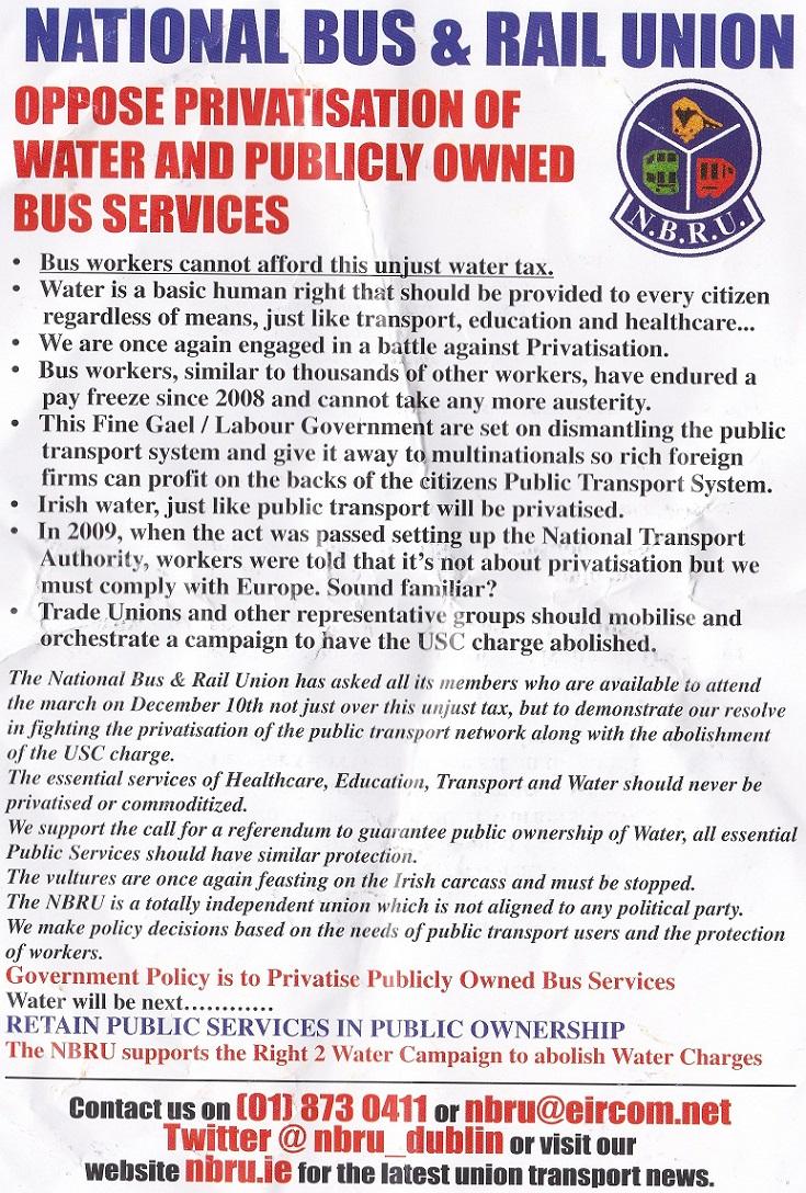 NBRU Privatisation leaflet 2014