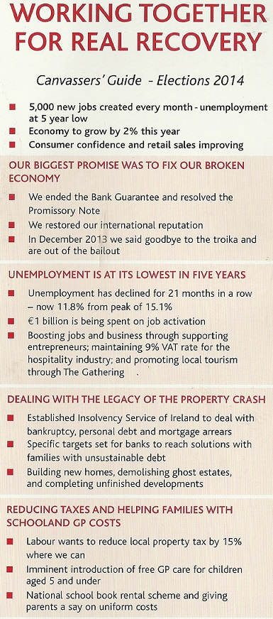 labour canvassers guide for the 2014 european and local elections rh irishelectionliterature com