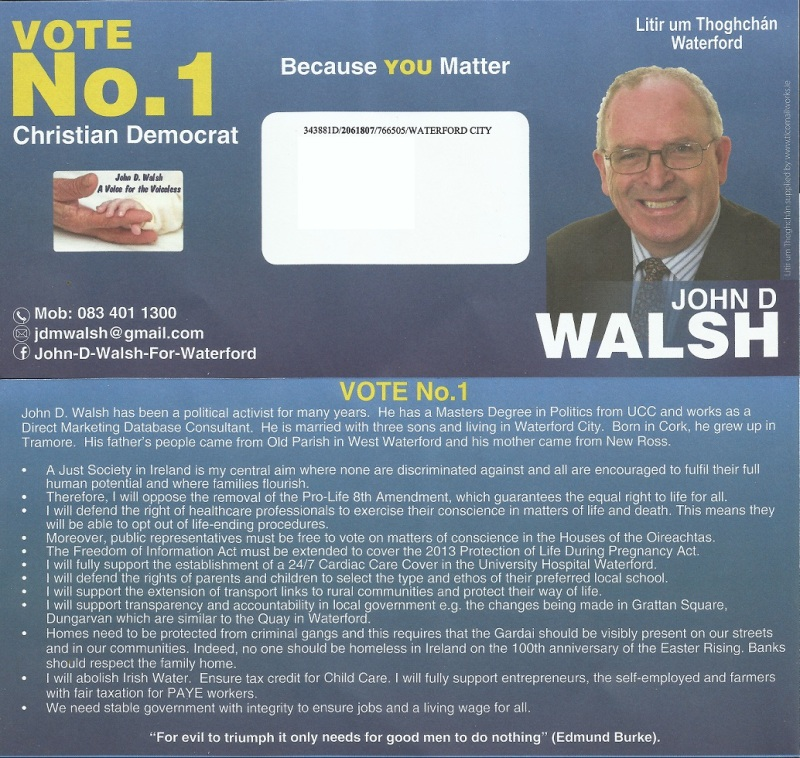john walsh christian democrat