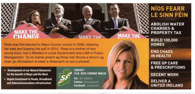 Rose Walsh-Sinn Fein-Mayo_back