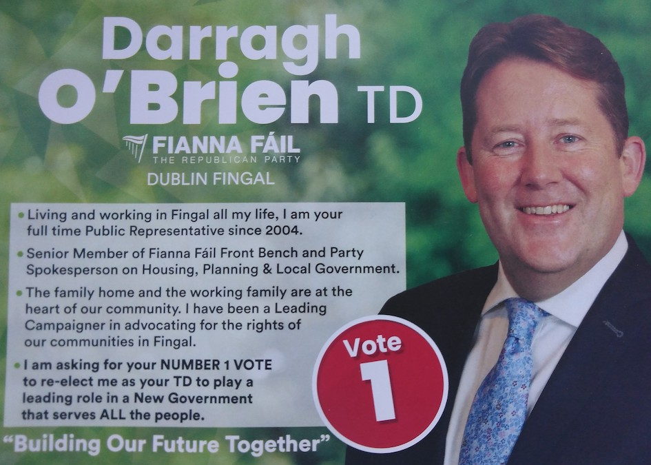 Darragh O'Brien   Irish Election Literature